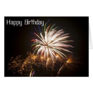 Firework Birthday Card