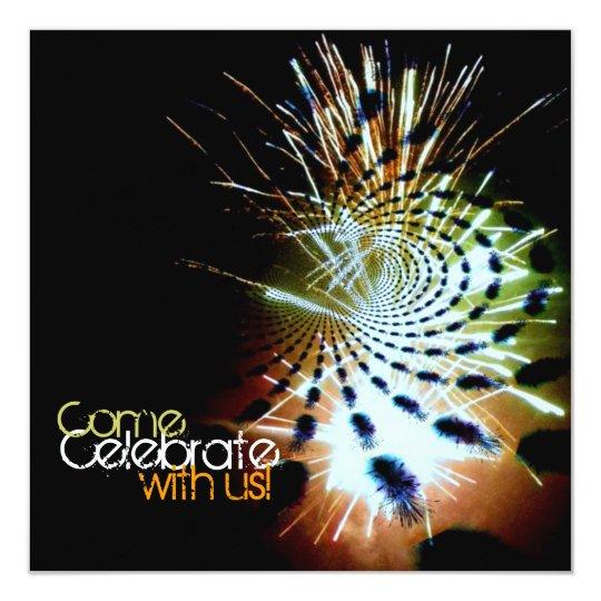 Firework Celebration Abstract Custom Card