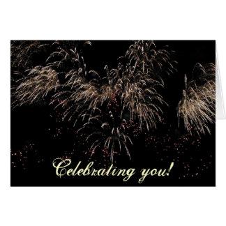 Firework celebration greeting card