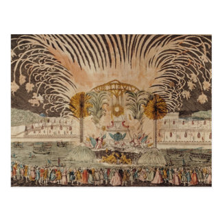 Firework Display in the Place Louis XV Postcard