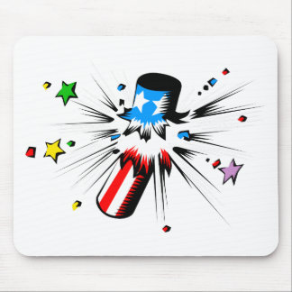 Firework Explosion Mouse Pad