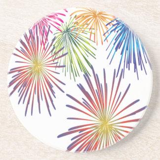 Firework Fun Colorful Modern Beautiful Coaster