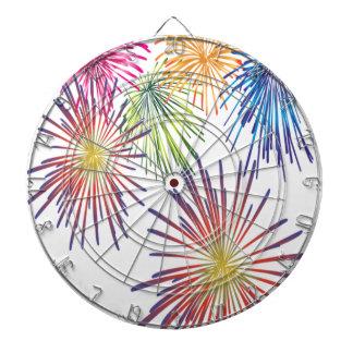 Firework Fun Colorful Modern Beautiful Dartboard