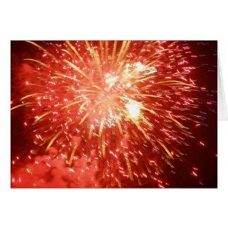 Firework Greeting Card