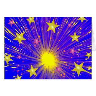 Firework greetings card