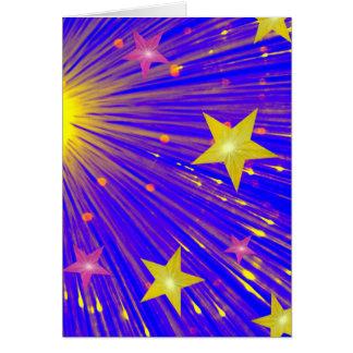Firework greetings card portrait
