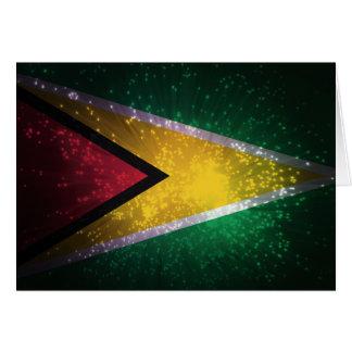 Firework; Guyana Flag Note Card