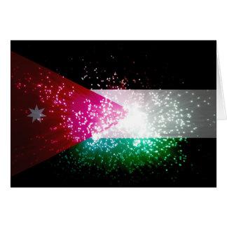 Firework; Jordan Flag Greeting Cards