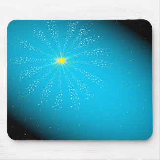 Firework On Blue Mouse Pad