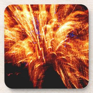 Firework Plastic Coasters