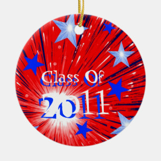 Firework Red White Blue 'Class of 2011' ornament