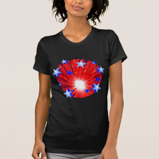 Firework Red White Blue t-shirt ladies