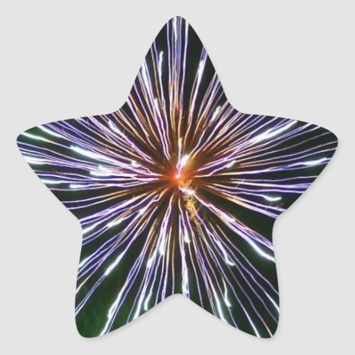 firework star shaped stickers
