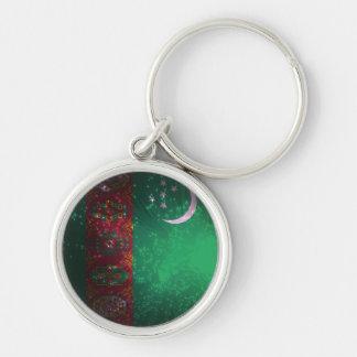 Firework; Turkmenistan Flag Key Chains