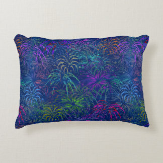 Fireworks 4th of July Colorful Summer Pattern Decorative Cushion