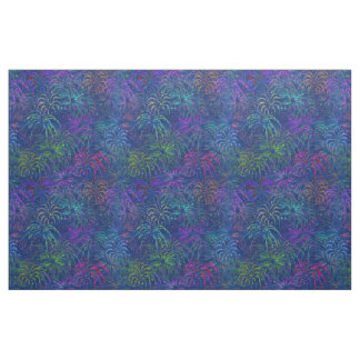 Fireworks 4th of July Colorful Summer Pattern Fabric