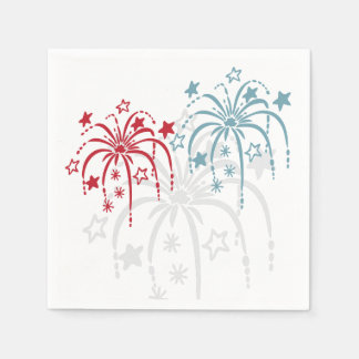 Fireworks 4th of July Paper Napkin Set