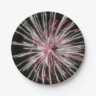 Fireworks 7 Inch Paper Plate