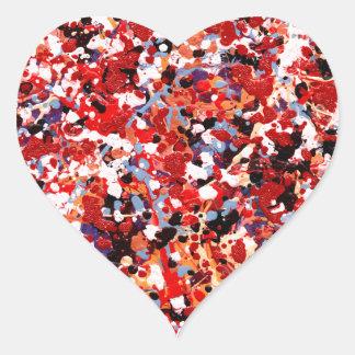 FIREWORKS abstract art design Heart Sticker