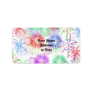 Fireworks (Add background color) Label