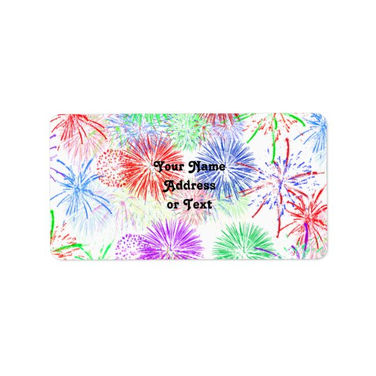 Fireworks (Add background colour) Label