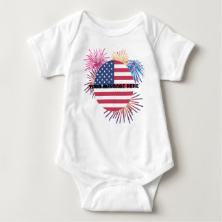 Fireworks and the Flag Baby Bodysuit
