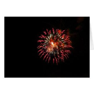 Fireworks, Anniversary Greeting Card