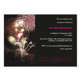 Fireworks anniversary invitation