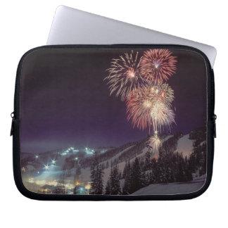 Fireworks at Big Mountain Resort in Whitefish, Laptop Sleeve