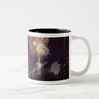 Fireworks at Big Mountain Resort in Whitefish, Two-Tone Mug
