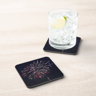 Fireworks at Night Photo Coaster
