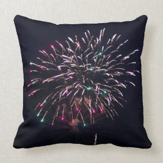 Fireworks at Night Photo Cushion