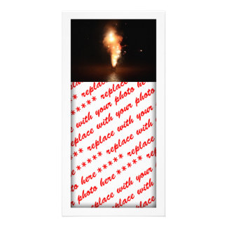 Fireworks at Waters Edge Photo Card