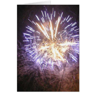 Fireworks Blue On Sky Greeting Card