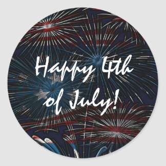 Fireworks Burst 4th of July Red White Blue Sticker