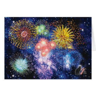 Fireworks Bursts Greeting Card