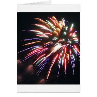 fireworks greeting card