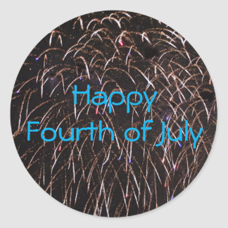 Fireworks Celebration Classic Round Sticker