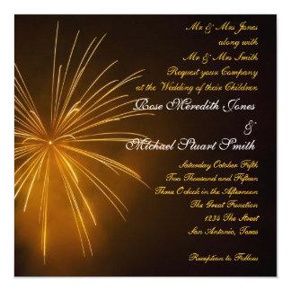 Fireworks Celebration Wedding Card