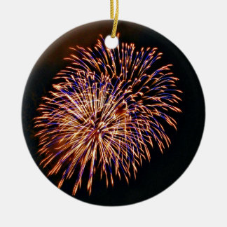 Fireworks Ceramic Ornament