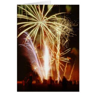 Fireworks Display Celebration Greeting Card