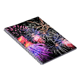Fireworks Display Spiral Note Book