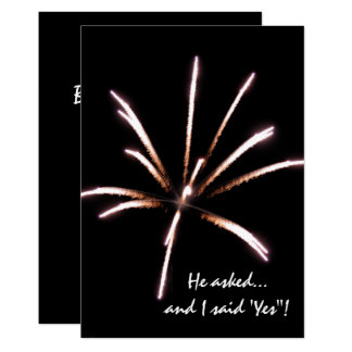 Fireworks Engagement Party Invitation