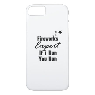 Fireworks Expert Funny 4th of July for Men Women iPhone 8/7 Case