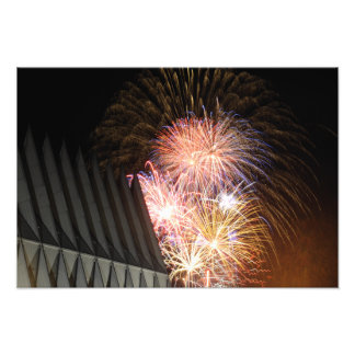 Fireworks explode photographic print