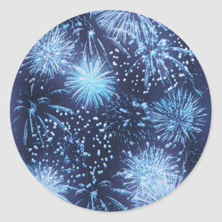 Fireworks exploding stickers