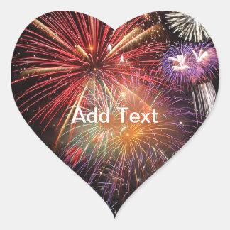 Fireworks Finale Heart Sticker