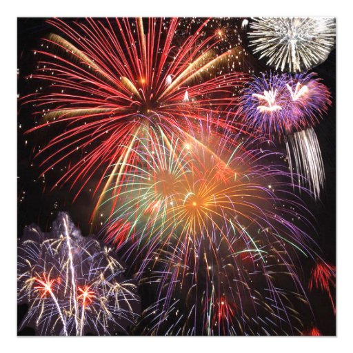 Fireworks Finale Personalized Invites