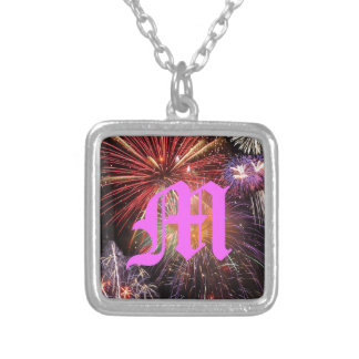 Fireworks Finale Silver Plated Necklace