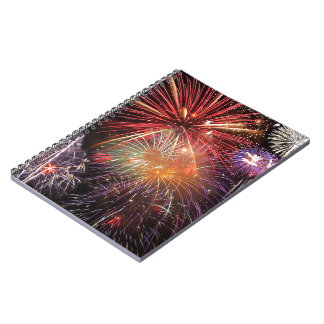 Fireworks Finale Spiral Notebook